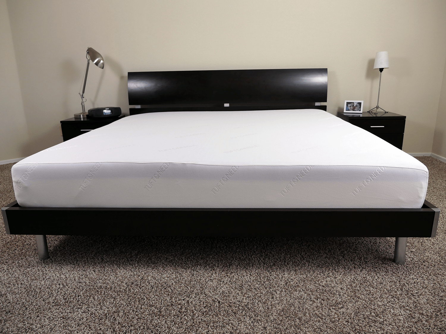 Tuft and Needle mattress, King size on slat bed
