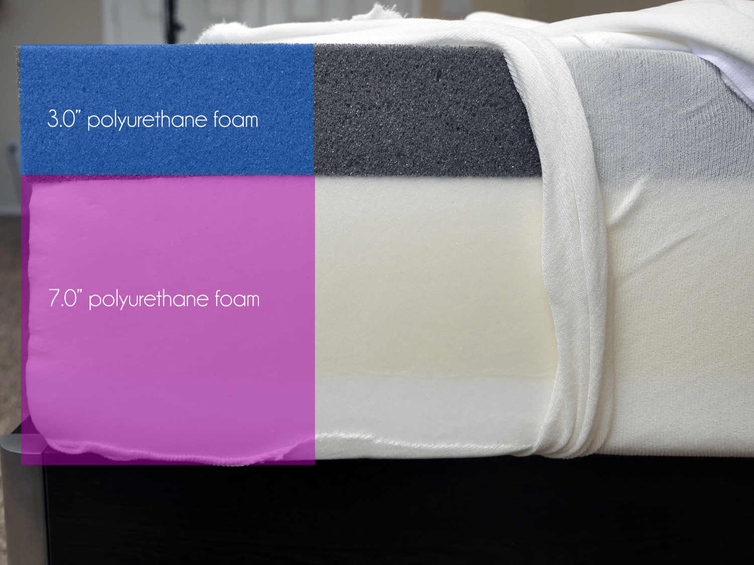 tuft-and-needle-mattress-foam-layers Tuft and Needle vs. Yogabed Mattress Review