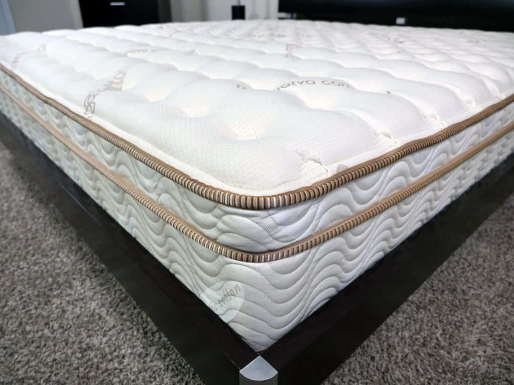Close up shot of the Saatva mattress cover