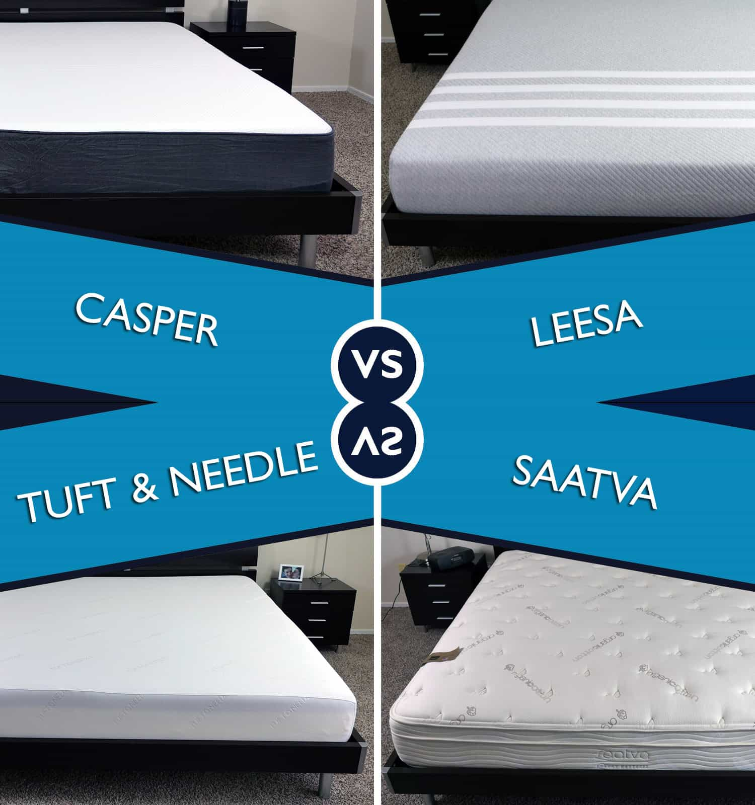 Casper vs leesa vs tuft needle vs saatva mattress for Brooklyn bedding vs tempurpedic
