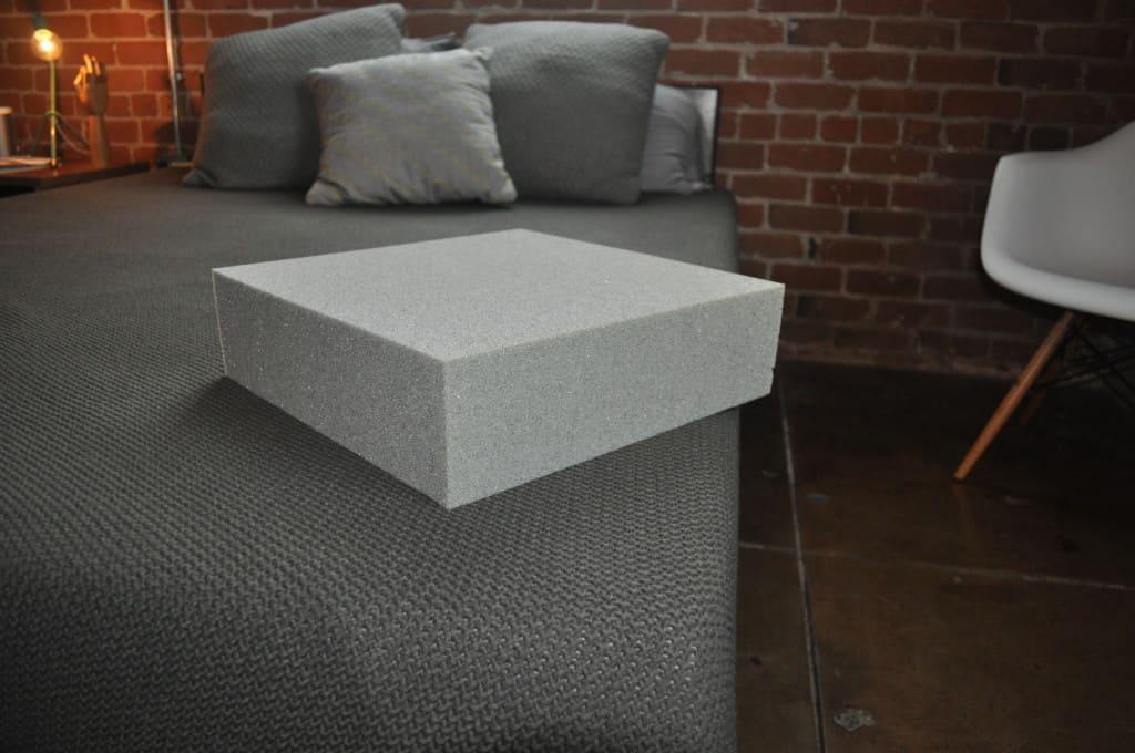 Example block of Tuft & Needle's custom foam