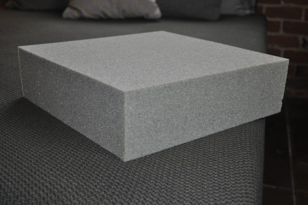 Block of the custom Tuft & Needle foam