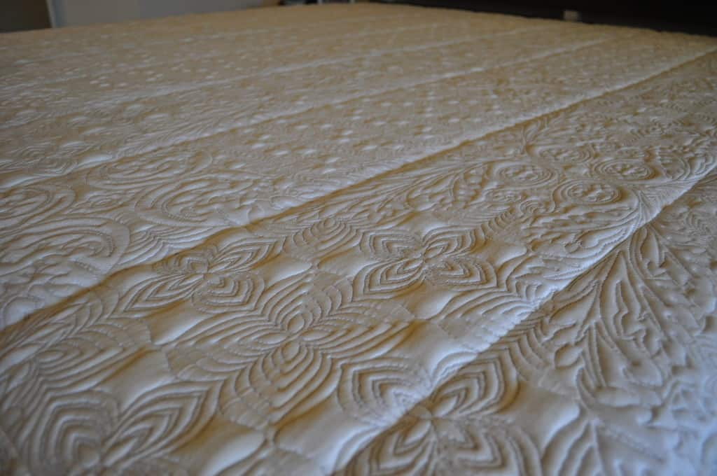 Nature's Sleep Emerald Gel Memory Foam Mattress cover close up