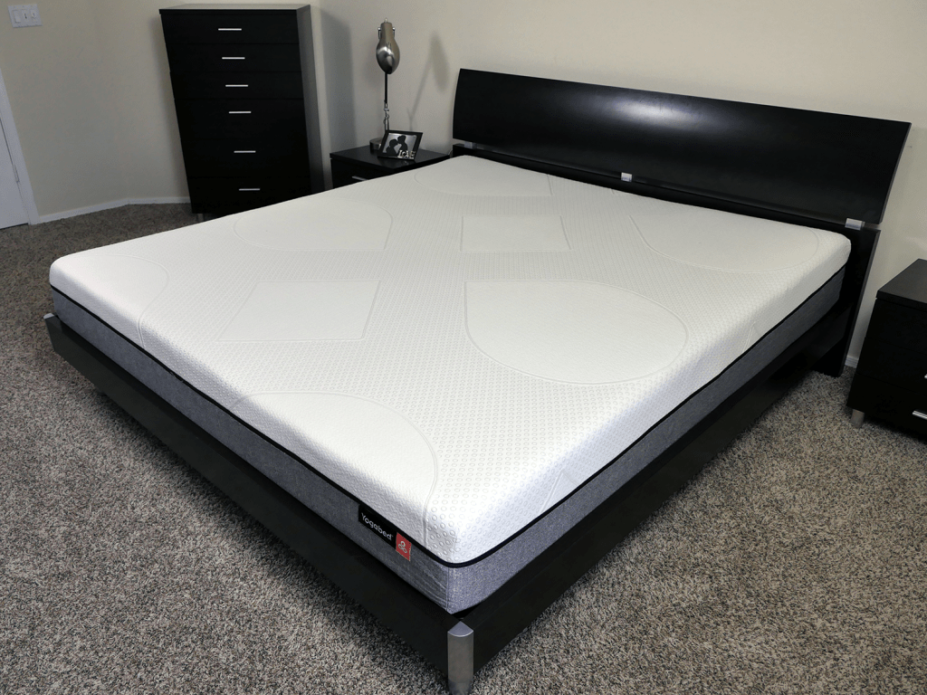 Angled view of the Yogabed mattress