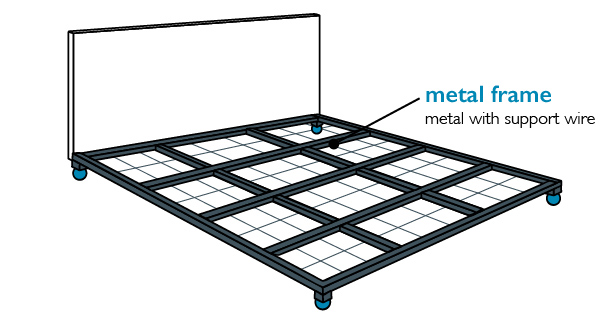 metal grid bed frame