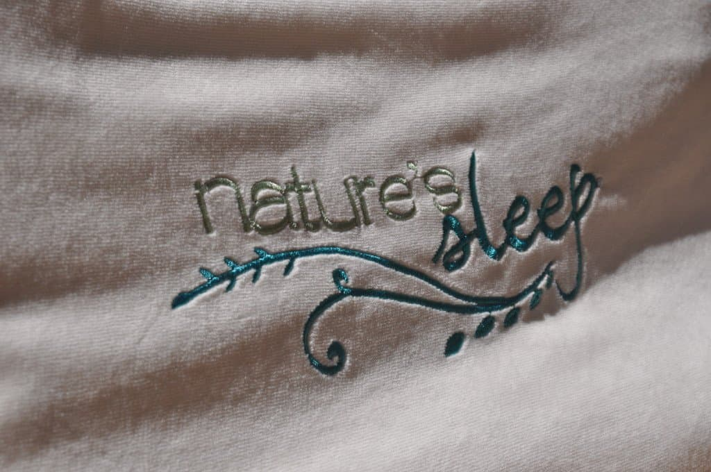Close up of the Nature's Sleep pillow cover