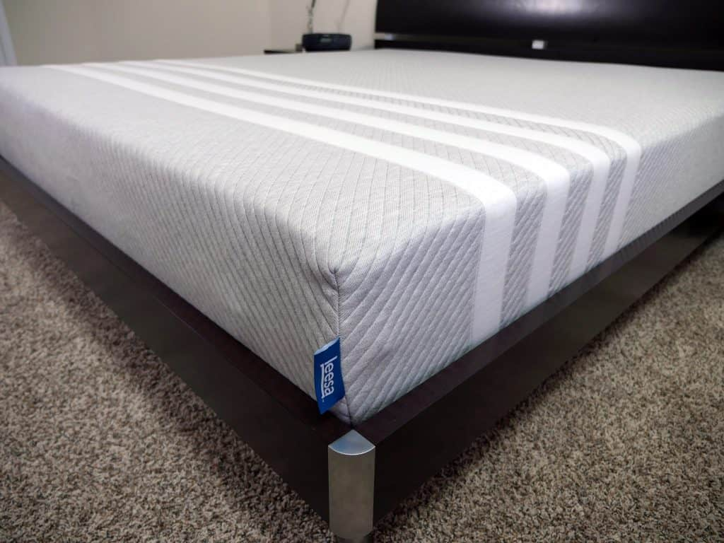 Close up shot of the Leesa mattress cover