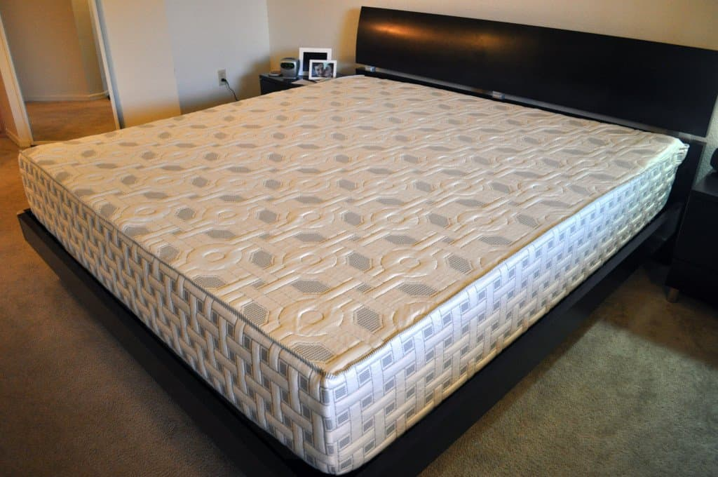 Angled view of the 4Sleep mattress