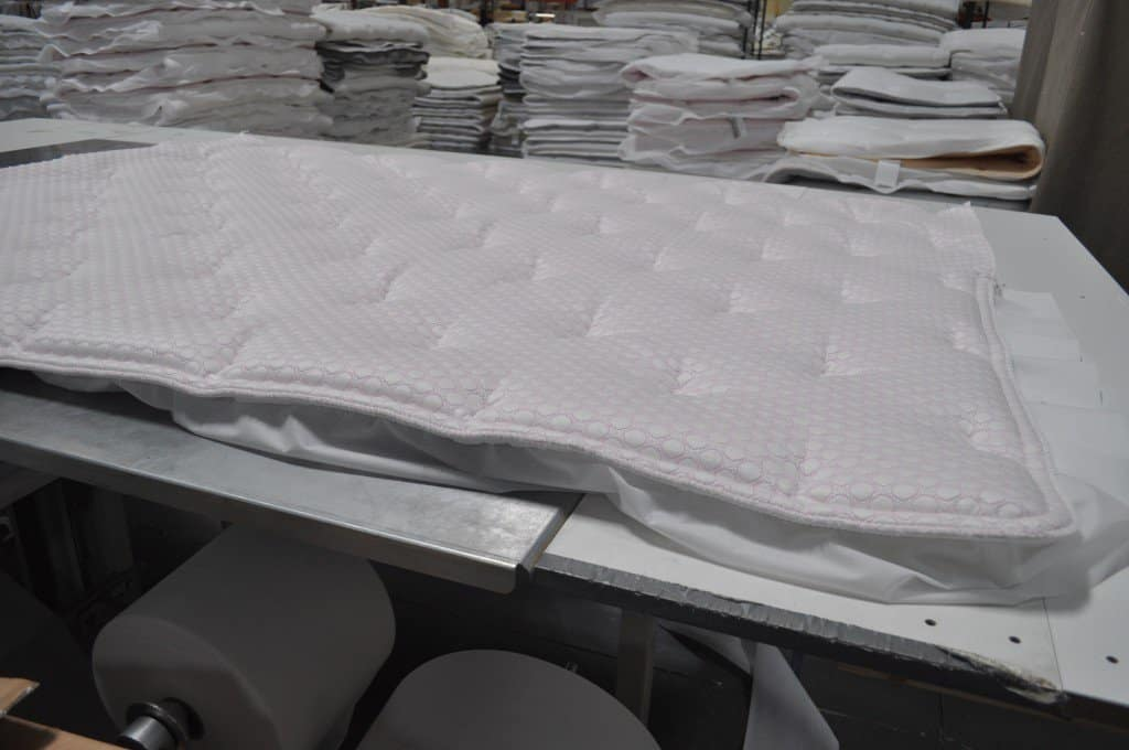Here's a mattress cover that is 100% done.