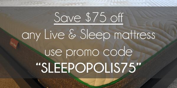 """$75 off Live & Sleep with promo code """"SLEEPOPOLIS75"""""""