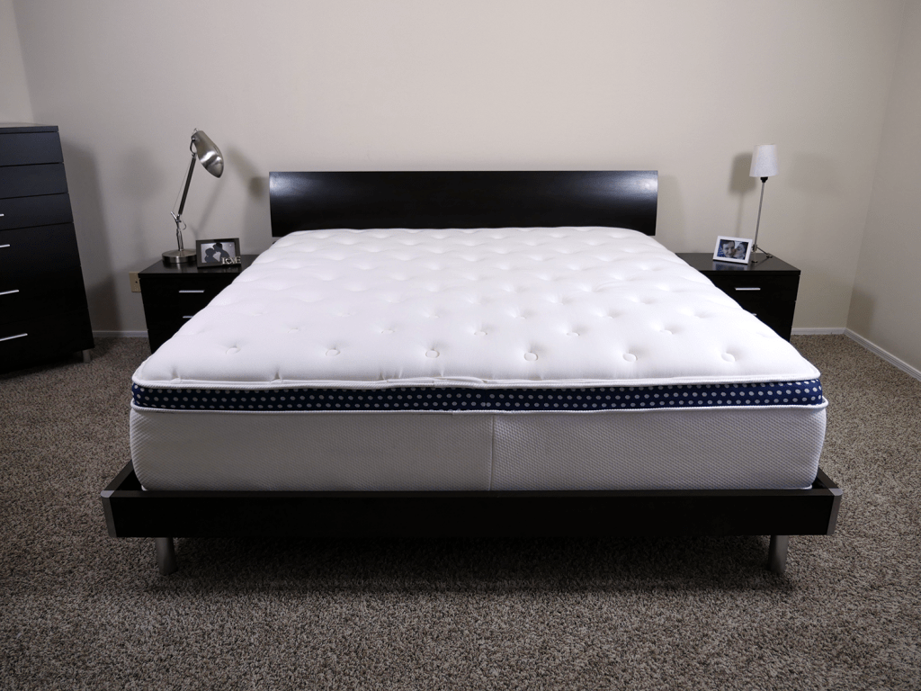 WinkBed mattress, King size, platform bed