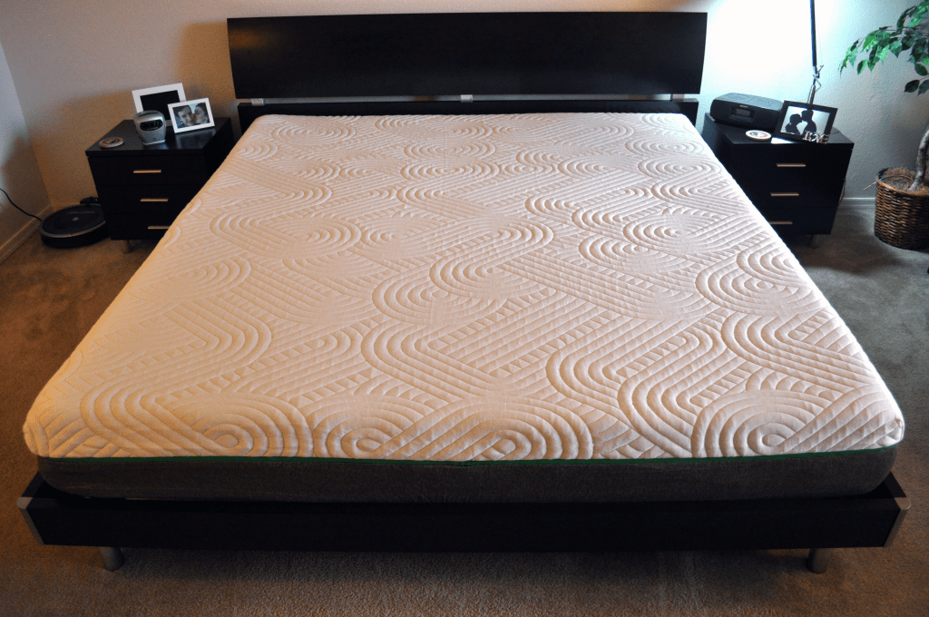 Live and Sleep mattress - King sized on platform bed
