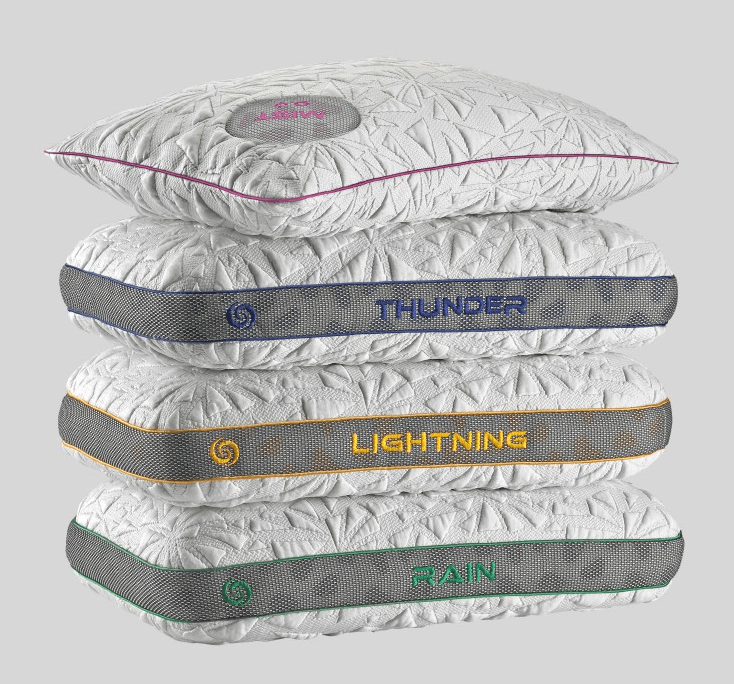 BearGear pillows - Rain 3.0 collection: Rain, Lightening, and Thunder.