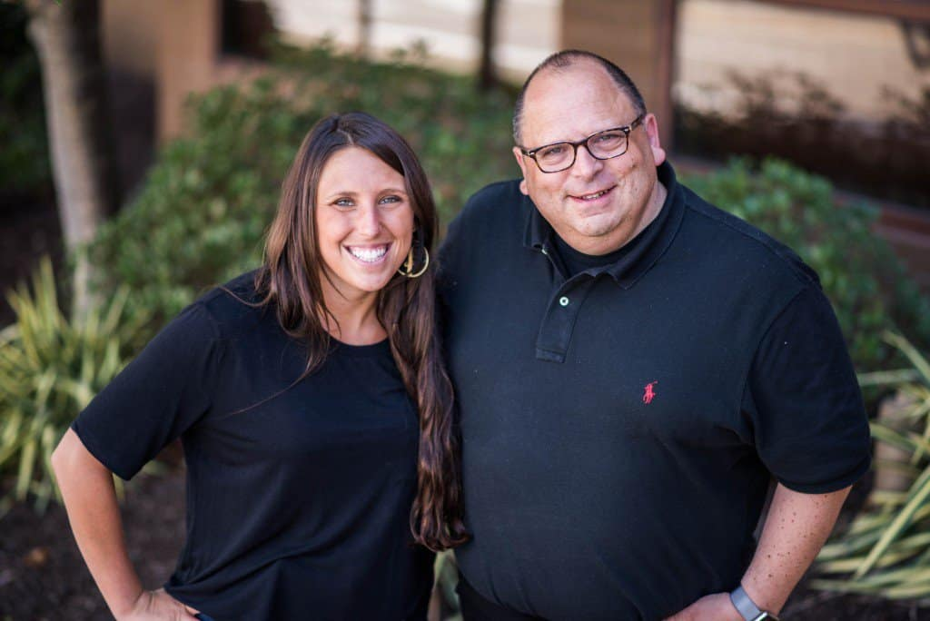 Sophie Wolfe, Director of Social Impact at Leesa (left). And David Wolfe, CEO at Leesa (right).