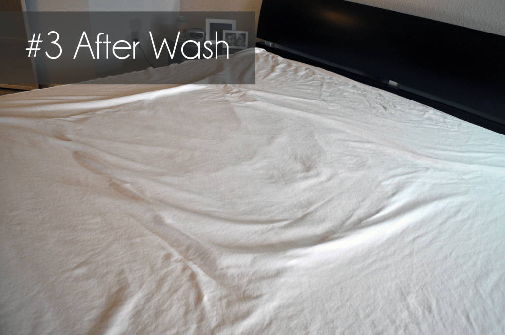 #3 - Mattress protector after completing the liquid tests + washing cycle