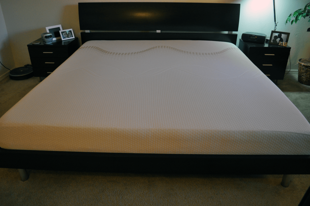 Amerisleep Americana mattress on platform bed (King sized)