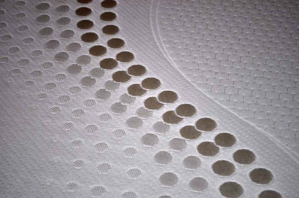 Close up of the Americana mattress cover