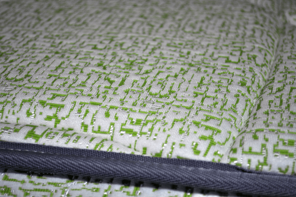 Close up shot of the Lucid mattress cover (top piece of fabric)
