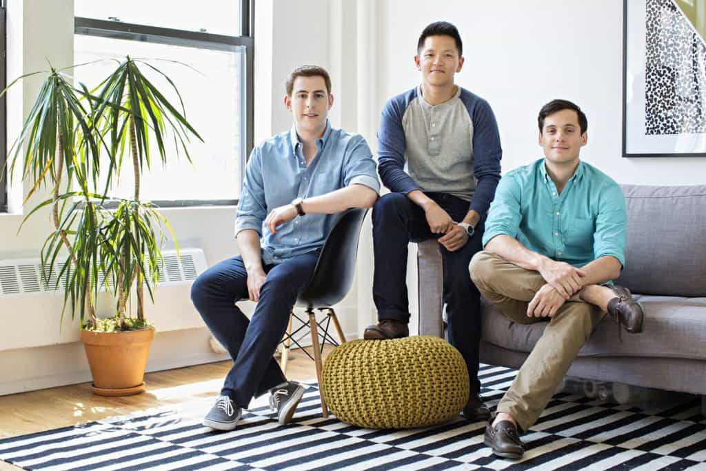 Helix Sleep founders (left to right): Adam Tishman, Jerry Lin, & Kristian von Rickenbach