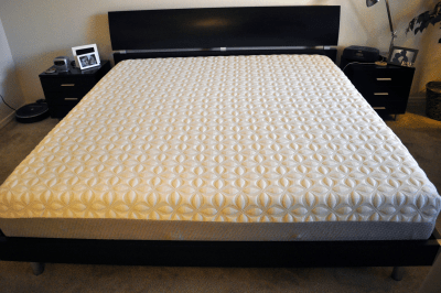 King size Zotto mattress on platform bed