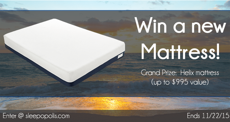 Win a brand new Helix mattress!