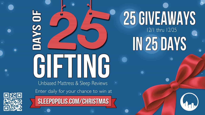 Tempurpedic Mattress Reviews >> 25 Christmas Giveaways in 25 Days | Sleepopolis