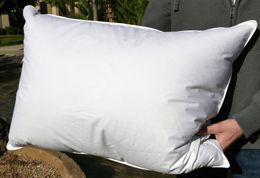 eLuxurySupply goose down pillow - Jumbo size