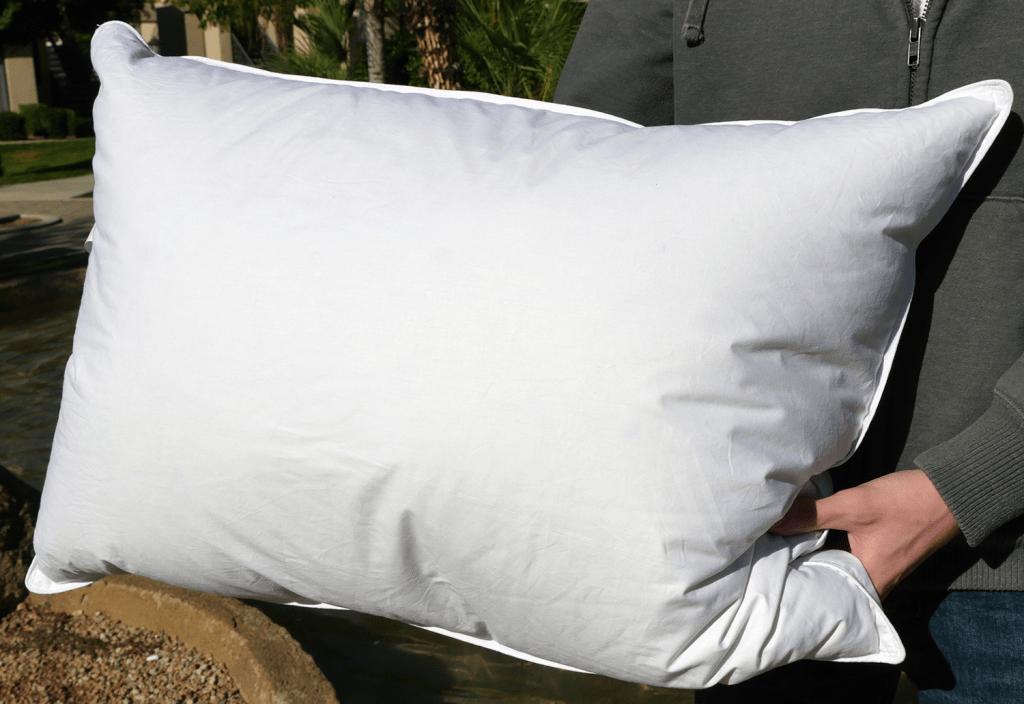 eLuxurySupply goose down pillow - Jumbo size