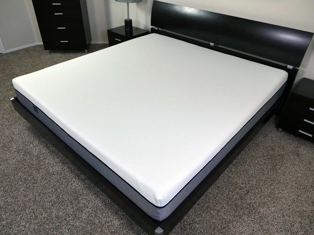 Angled view of the Lull mattress