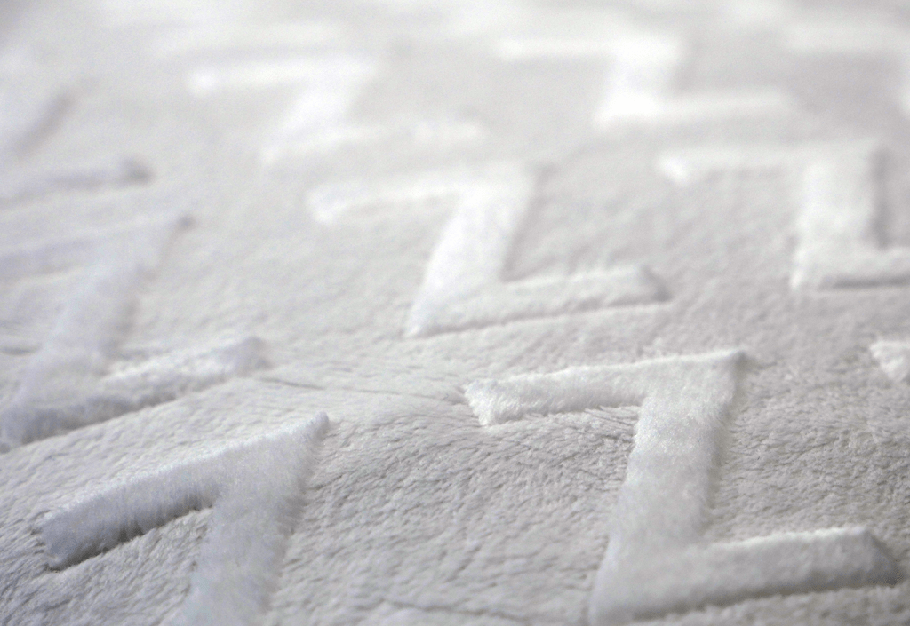 Close up of the Malouf talalay latex pillow cover