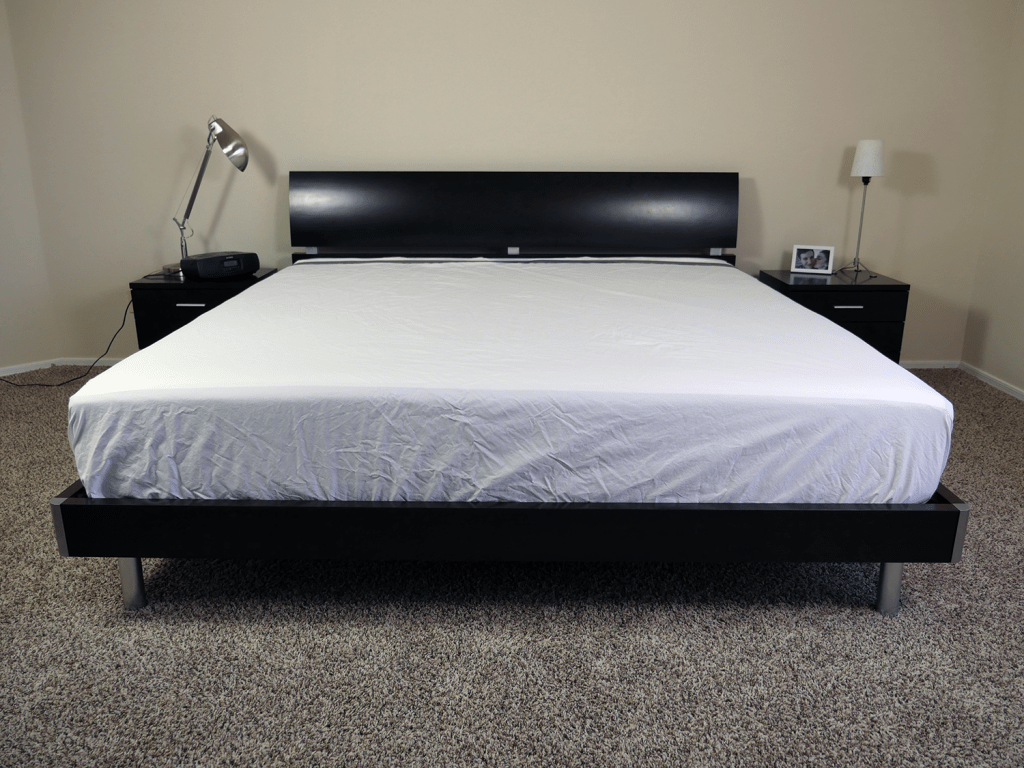 Casper sheets on a King size mattress