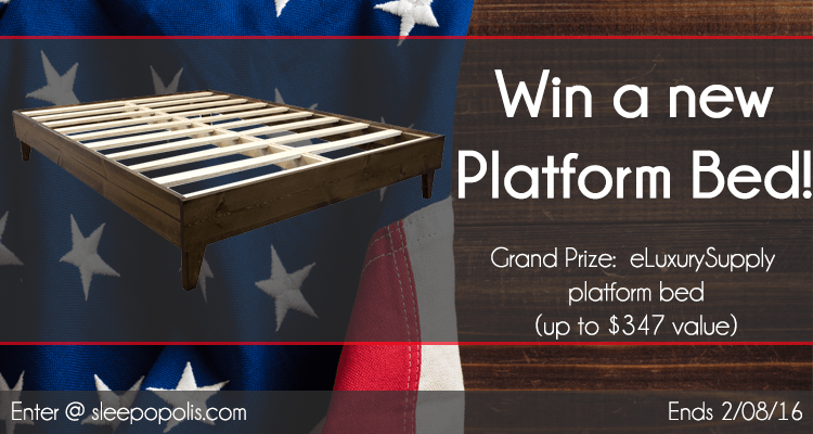 Win a new eLuxurySupply platform bed!