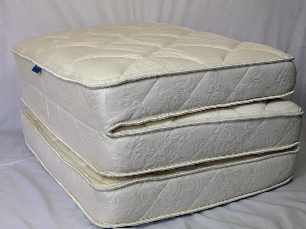 Ooroo mattress Ottoman bed (cover off)