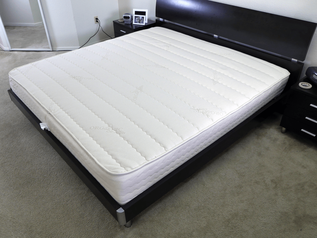 PlushBeds Botanical Bliss mattress - side angle shot