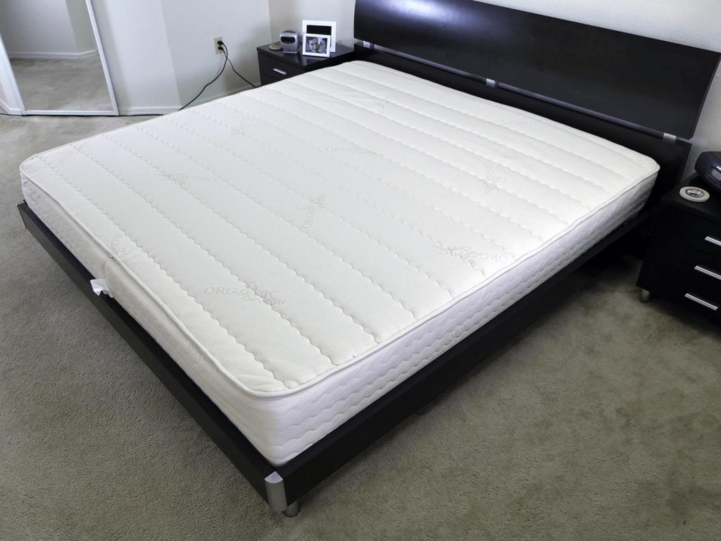 PlushBeds Botanical Bliss mattress - side angle shot