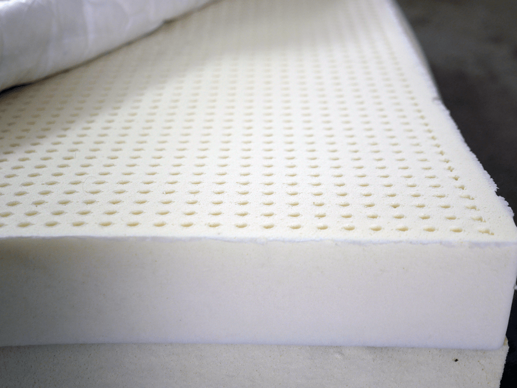 Top layer of Talalay latex on the PlushBeds Botanical Bliss mattress