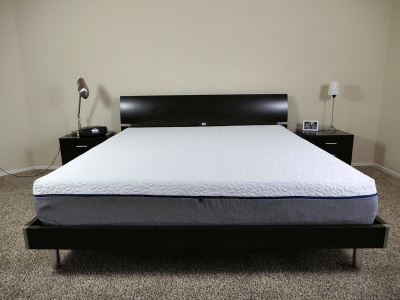 NovosBed mattress on a King size platform bed