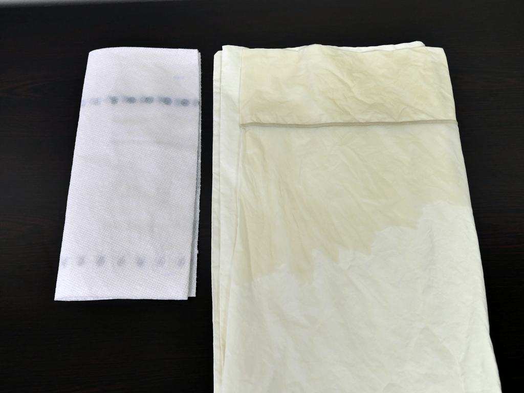 Snowe sheets color test - zero color transfer