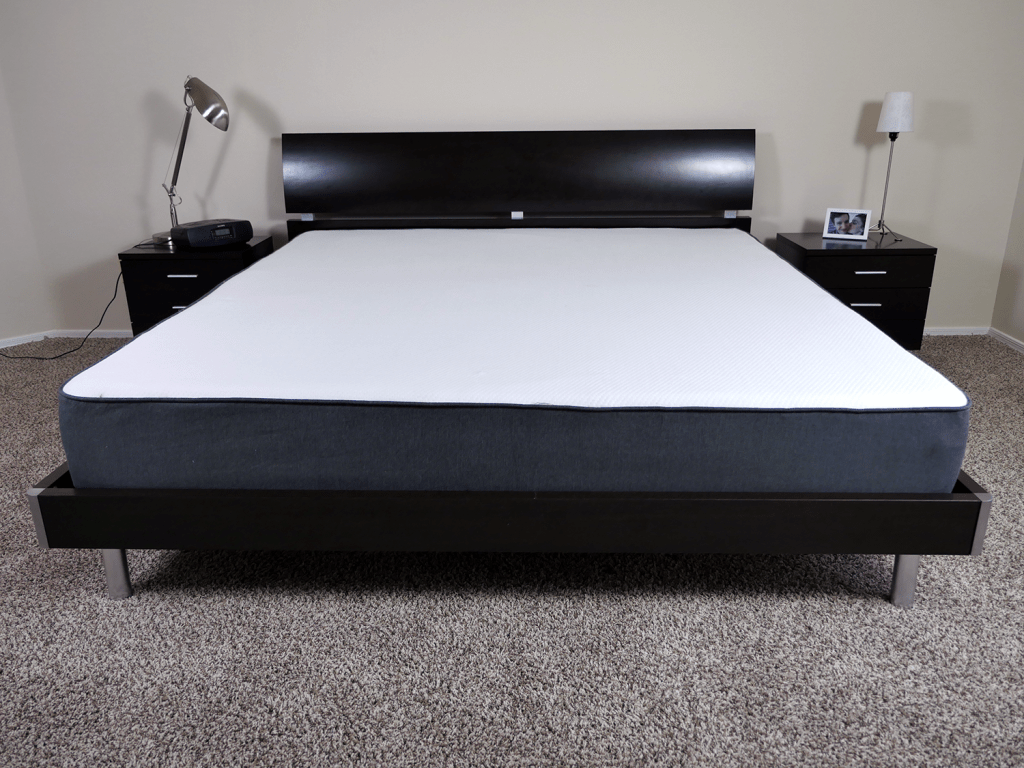 Casper mattress on a King size platform bed
