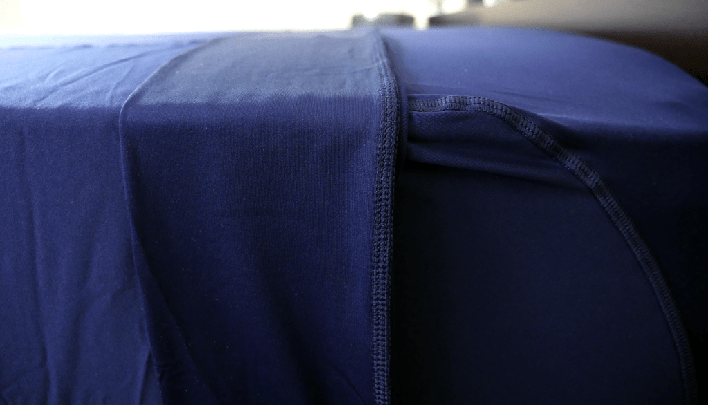Close up shot of the Sheex sheets
