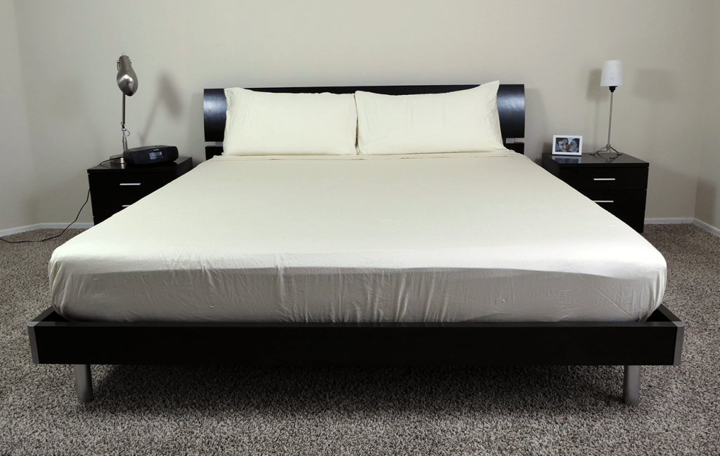 SOL Organix sheets on a King size mattress