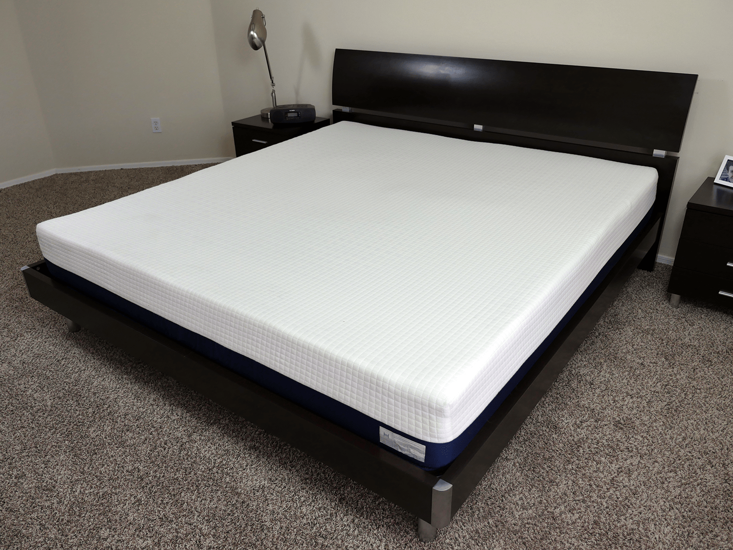 Helix mattress, angled view