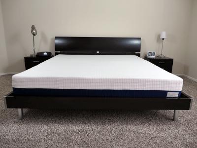 Helix mattress, King size, on platform bed