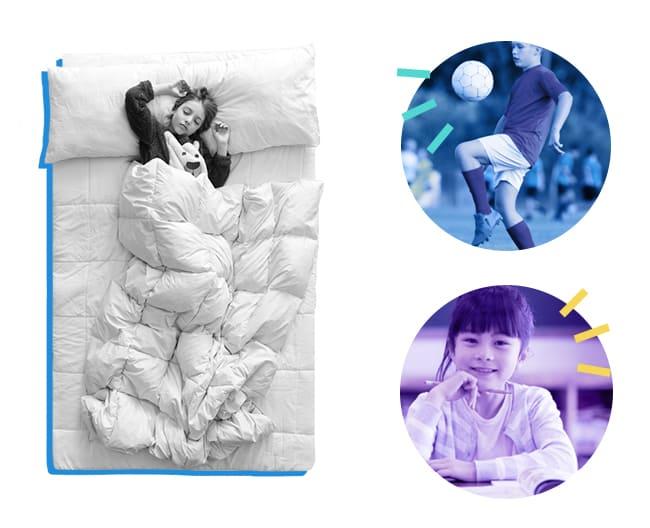 Kids Guide graphic healthy sleep