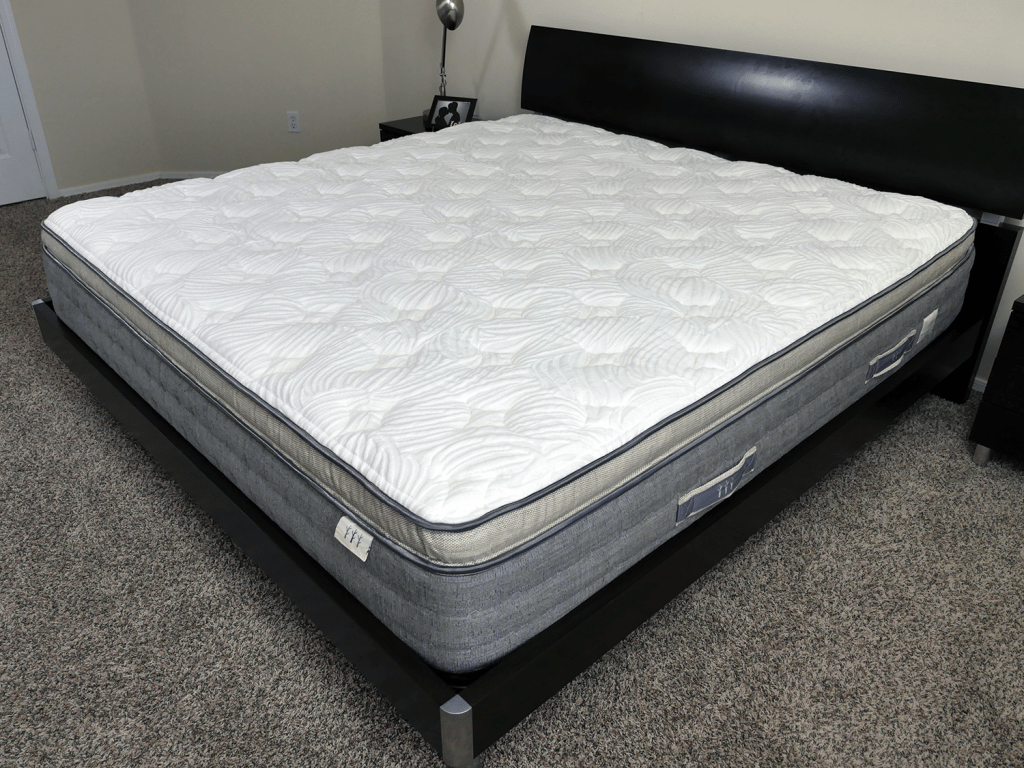 Angled view of the Brentwood Coronado mattress