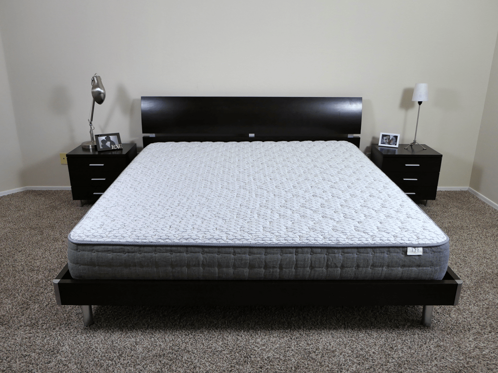 Brentwood Home Sierra mattress, King size, platform bed