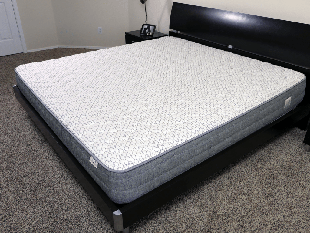 Angled view of the Brentwood Sierra mattress