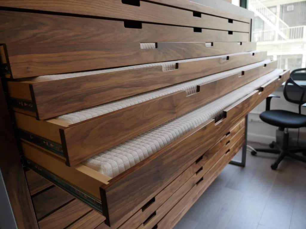 helix mattress customization cabinent