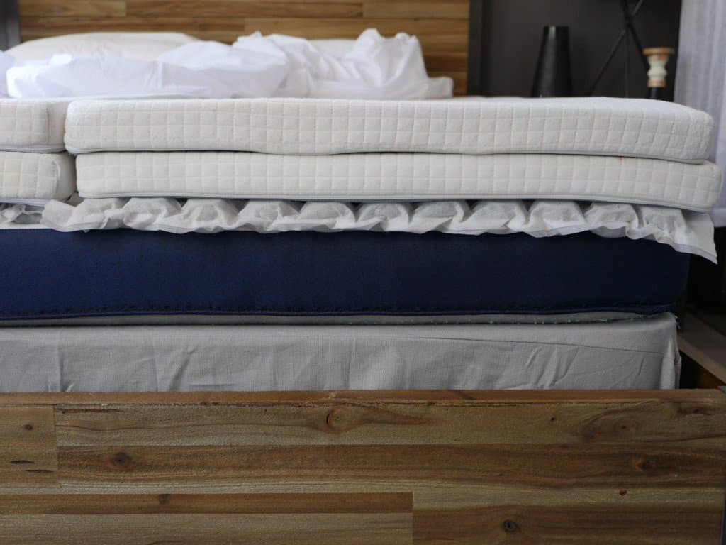 Cross shot of the Helix mattress layers