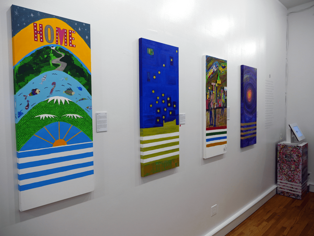 These are just a select few of the paintings displayed throughout Leesa's new Dream Gallery